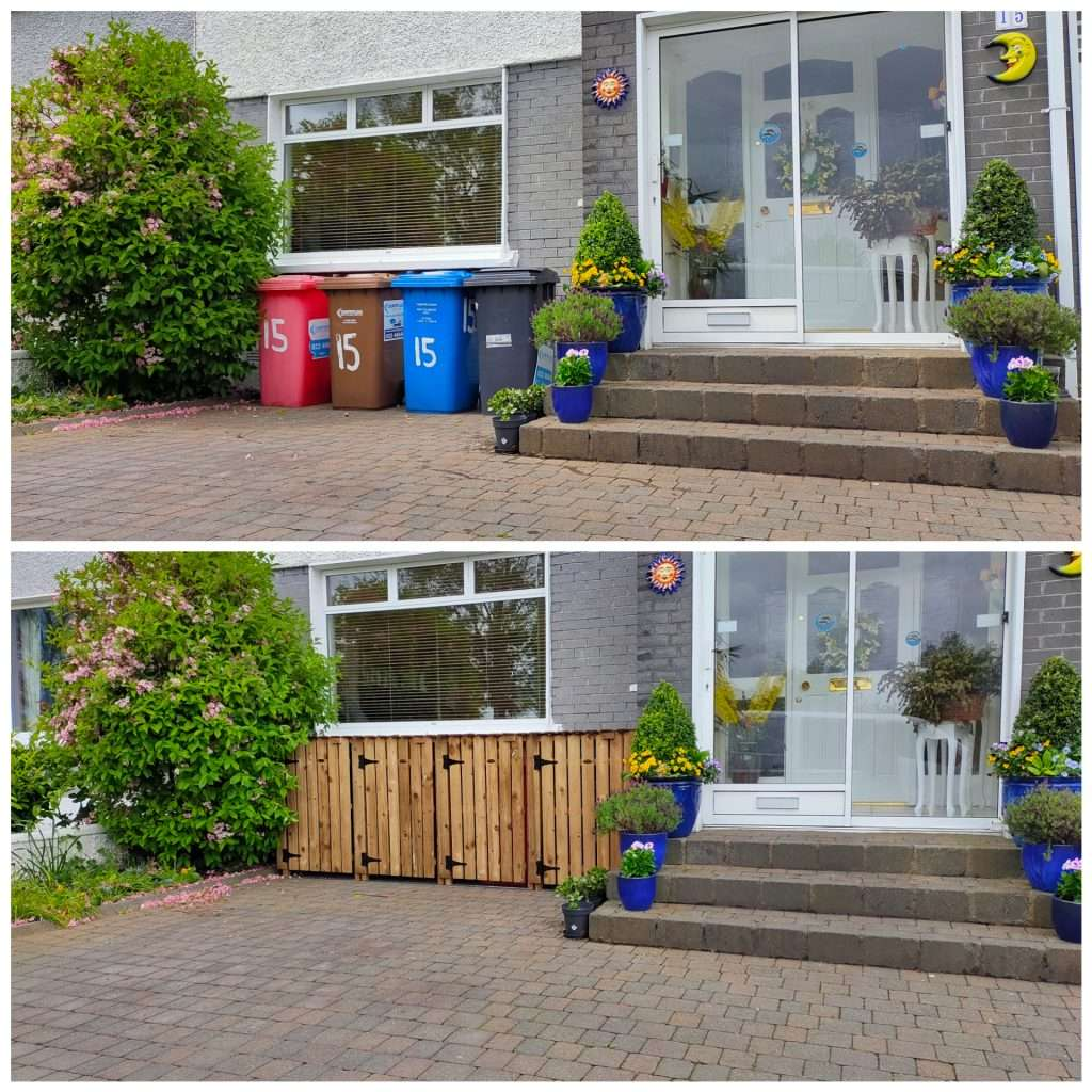 before and after wheelie bin solutions